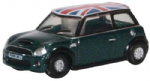 Oxford Diecast NNMN005 New Mini Cooper S British Racing Green and Union Flagv